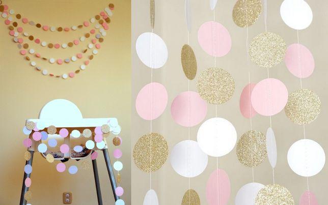 Dekoracja na chrzest, roczek, sesję Komplet krzesełko + tło ściana