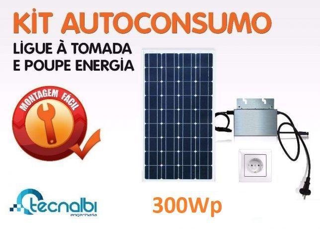 Kit de autoconsumo fotovoltaico 300wp - burocracia zero