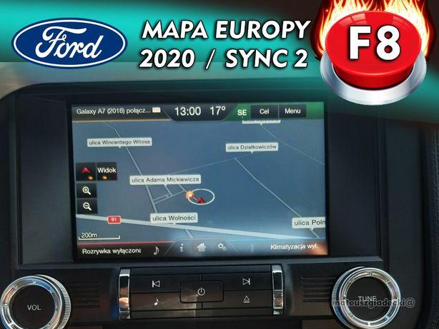 Sync 2 F8 Najnowsze 2020 MAPY FORD dla Mustang, Explorer, Taurus, Edge