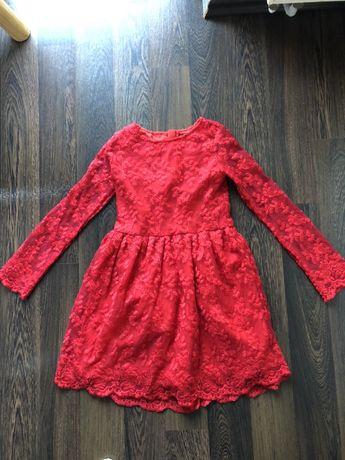 Sukienka z koronki stan bdb roz128