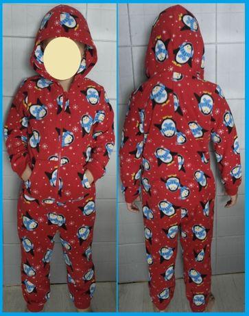 Jingle bells 7-8лет слип кигуруми пижама костюм пингвины рождество