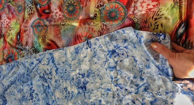 Шелковый платок. Аксессуар. Подарок. (170/70 см)