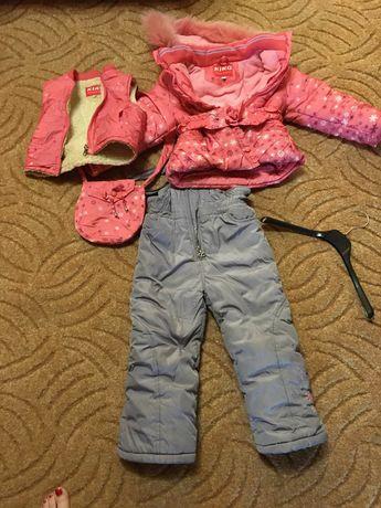 Зимний костюм для девочки 1-3 года
