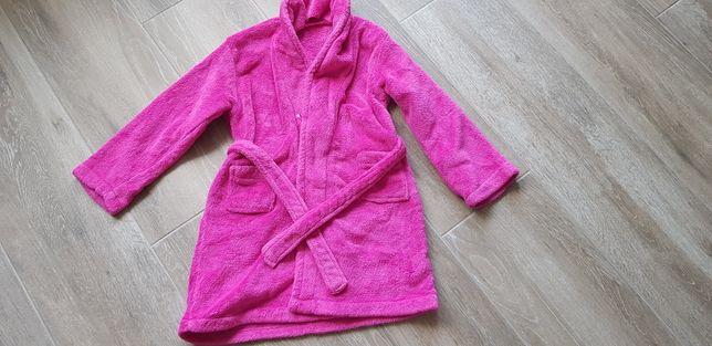 Szlafrok różowy 122 dla dziewczynki