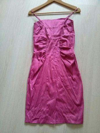 Elegancka rozowa sukienka