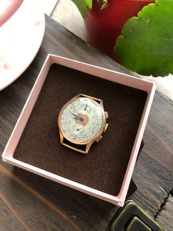 Złoty zegarek 18k Chronographe, Antimagnetic Suisse