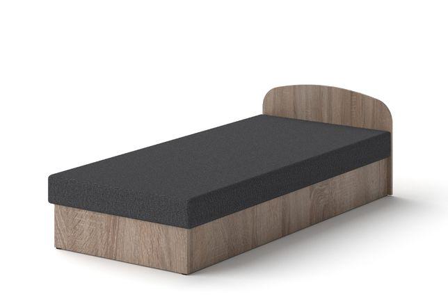 Łóżko hotelowe 90 x 200 Dąb Truflowy tapczan z materacem