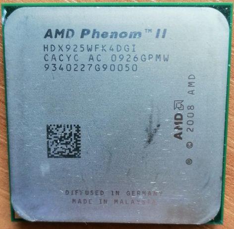 AMD Phenom II X4 925 + (Płyta+RAM+ZASILACZ+Cooler) + Gratis