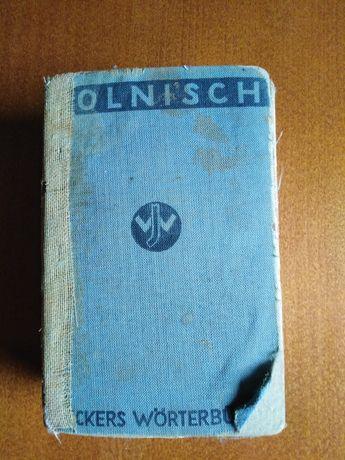 Słownik polsko niemiecki stary 1930