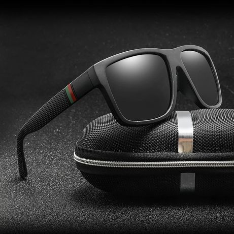 Okulary przeciwsłoneczne męskie polaryzacyjne + etui