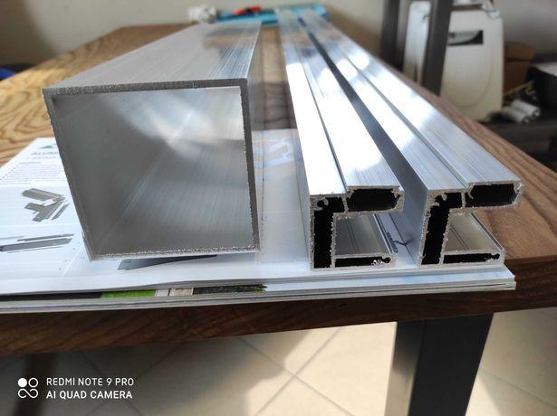 profil aluminiowy 40x40 ceownik komorowy pod przęsło ogrodzenie furtka