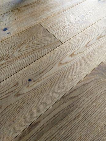 Deska podłogowa trójwarstwowa olejowana faza dąb rustykalny 4,6 m2