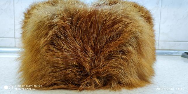Зимняя шапка - ушанка из лисы