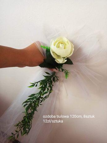 Ozdoba tiulowa na ślub lub wesele
