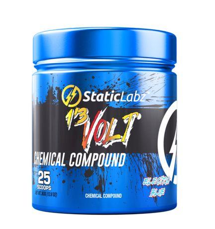 Static Labz 1,3 Volt 387g USA Pre Workout Mocna Przetreningówka+GRATIS