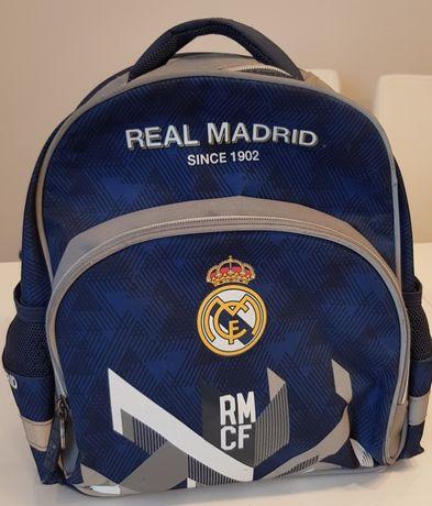 Plecak szkolny REAL MADRYT niebiesko-szary