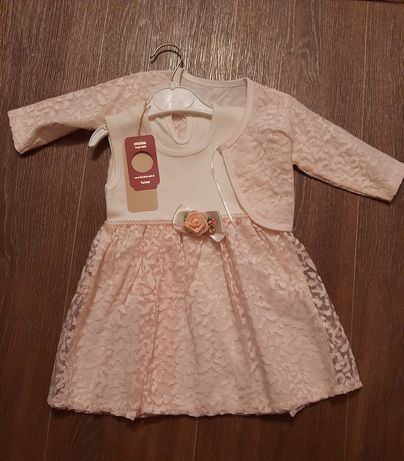 Новое платье на девочку 9-12 месяцев