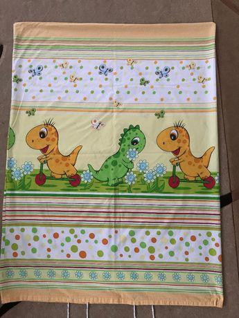 Kołdra dla dziecka 90x130 z poduszką + zestaw pościeli Dinozaury