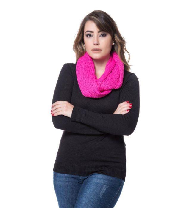 Cachecol gola cor de rosa Gualtar - imagem 1