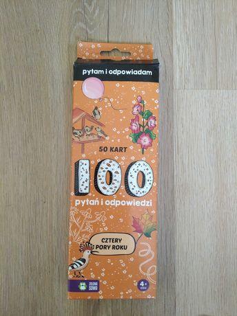 Gra karty 100 pytań i odpowiedzi cztery pory roku