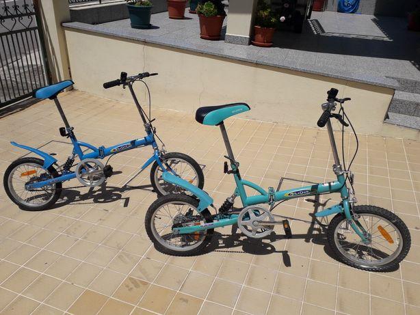 """2 bicicletas dobráveis  roda 16"""" usadas...último preço!!!"""