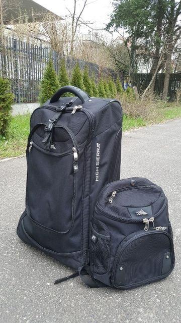 zestaw podróżny torba walizka plecak High Sierra 3w1 na kółkach