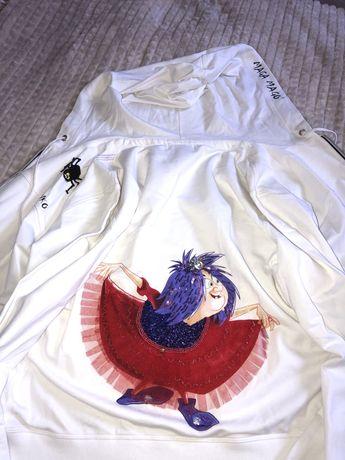 Nowa biała bluza S Pinko seria Disney bawełna