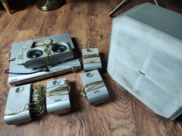 Zestaw głośników od kina domowego Philips (+odtwarzacz uszkodzony)