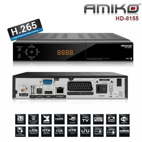 RECETOR SATELITE HD ETHERNET AMIKO HD8155