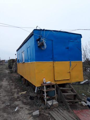 Вагончик на колесах 6,5м.×2,5м. житловий:охорона,будівництво..