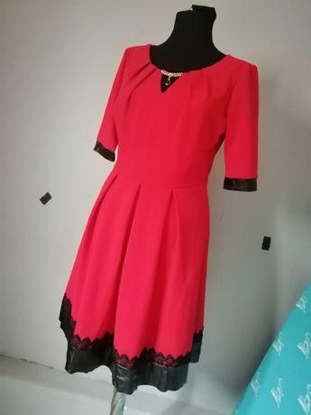 Красное платье в отличном состоянии