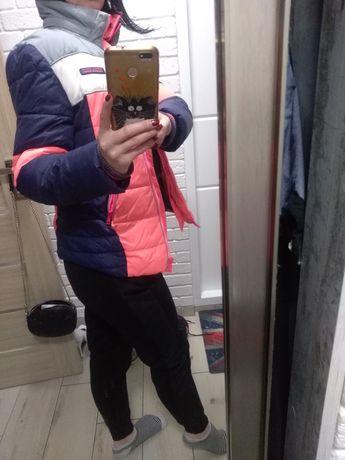 Женский красивый яркий пуховик куртка Next, размер s, xs.