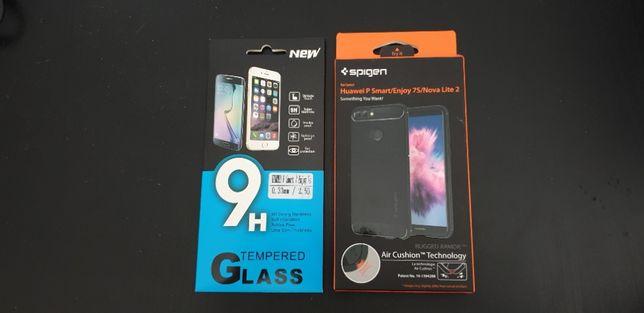 Nowe ETUI SPIGEN + szkło Huawei P Smart/ Enjoy 7s/ Nova Lite 2