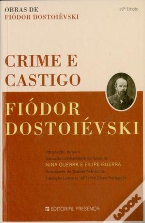 Crime e Castigo de Fiódor Dostoiévski - NOVO