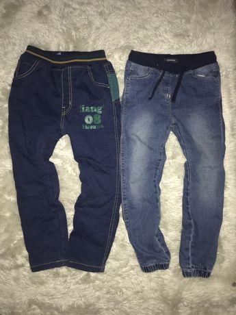 spodnie ocieplane polarkiem 2 pary 110 cm ochraniacze rozm 4-5 l