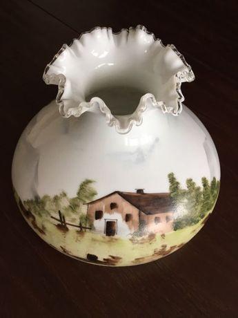 Klosz szklany ręcznie malowany antyk