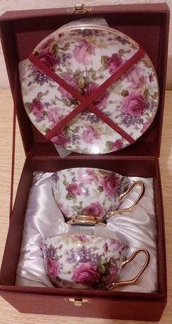 Подарочный набор две чашки и два блюдца