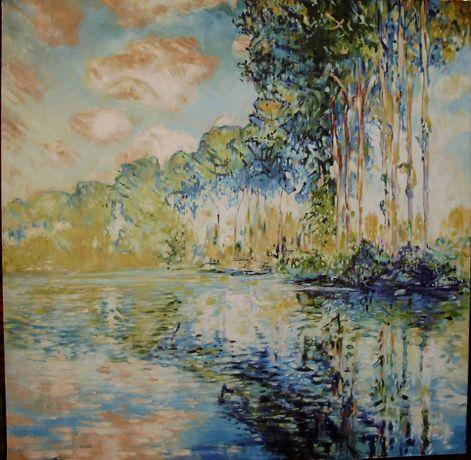 """Kopia obrazu C. Moneta """"Topole przy Argenteuil"""""""