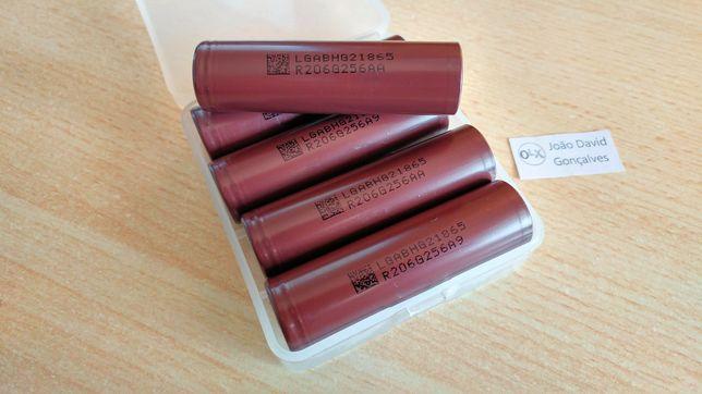 Pilha bateria 18650 LG HG2 3000 mAh 20A recarregável