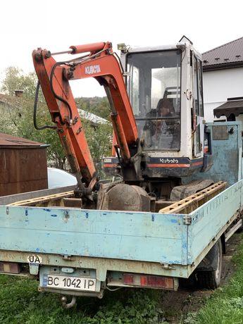 Екскаватор Kubota KX 61... разом з грузовиком!!!
