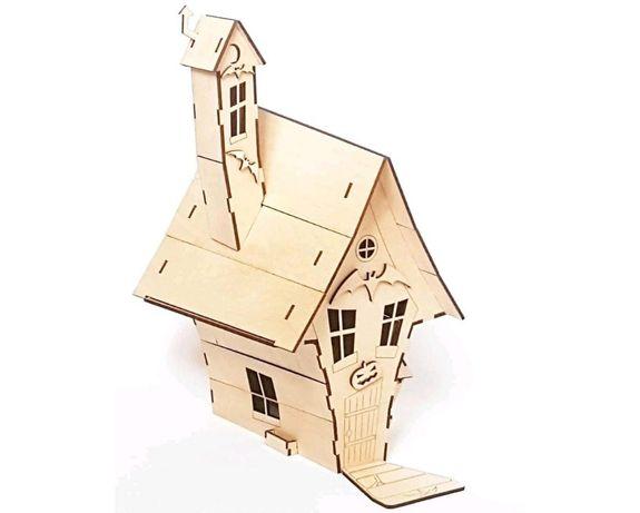 Drewniany domek czarownicy - do samodzielnego składania. HIT !!