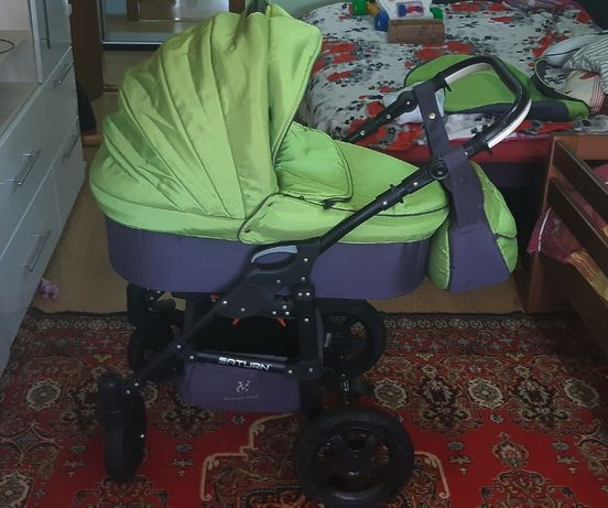 Детская коляска 2 в 1 Viki Saturn Victoria Gold зеленая