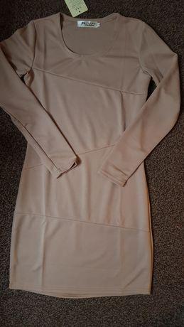 Sukienka tunika beżowa rozmiar XS. NOWA