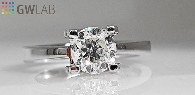 Pierścionek z diamentem 1,02ct