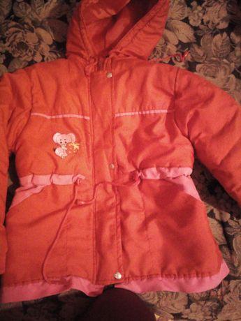 Продам курточку осень-весна на девочку 5-6 лет