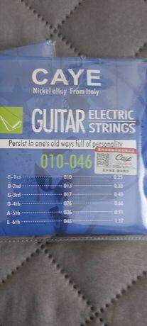 Struny do gitary elektrycznej.