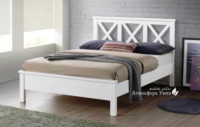 Шикарная современная двуспальная кровать 160*200 натуральное дерево