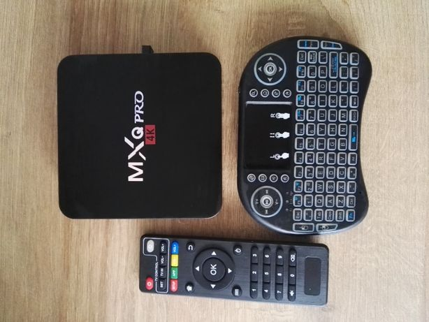 TV box MXQ Pro 4K android + klawiatura