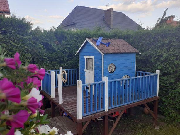 Domek plac zabaw dla dzieci drewniany domek na drzewie urodziny
