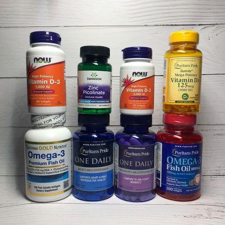 Цинк, Пиколинат, Витамин С, Витамин Д3, Zink, Мультивитамины, БАДы